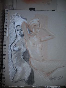 Nude Sketch by CoreFineArt