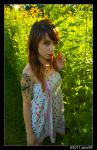 Krystle Rose and the flower by JaredxECUE