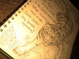 Tyger by W. Blake [lineart] by alison90