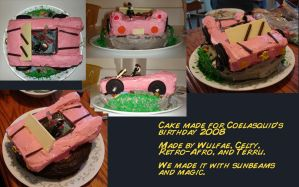 Coelasquid's Car cake. by wulfae