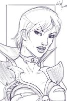 sketch Evil-Lyn by syrusbLiz