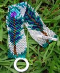 Turquoise Peacock FeathersSOLD by To-Delicate-Designs