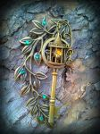 Garden Lamp Post Fantasy Key 2 by ArtByStarlaMoore