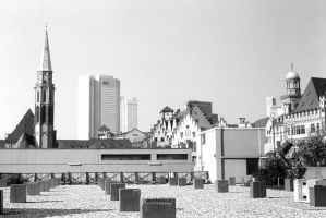 Germany Frankfurt Old Saint Nicholas Church 1970s by BlackWhitePictures