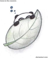 Panda with Leaf by Bees-In-The-Caramel