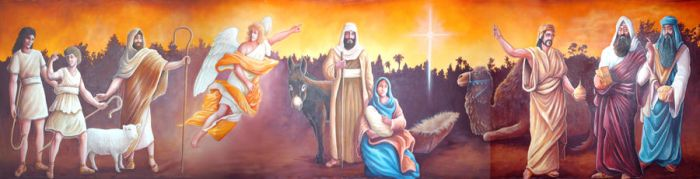 The Nativity Mural by Gallery-of-Art
