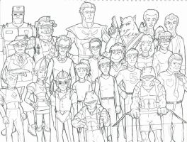 Turtles Secondary Characters Sketch1P22 by pedlag