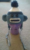 Blue Sock Monkey Hat by StaceyQuay