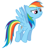 Rainbow Dash defies you. by theawkwardstage