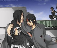 Bleach OC's - Genkei and Junichi (commission) by WarriorAngel36