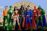Justice League- 1st Team by godstaff