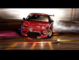240 SX speedpaint by Attila106