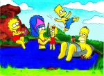The Simpsons Holiday by HalleyAC