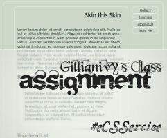 ASSIGNMENT :: Skin this Skin by GillianIvy