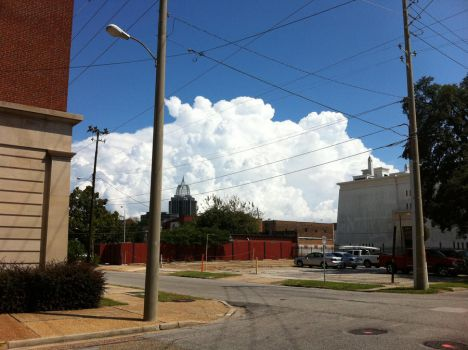 Fluffy Clouds over Mobile by Ravenhull