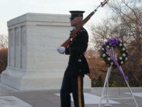 Sentry Marches at the Tomb of the Unknown Soldier by Zer0II