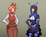 Steampunk Project Character Designs. by oneirossc