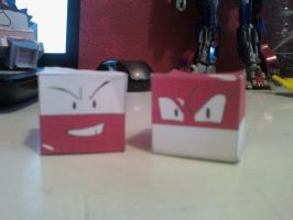 Voltorb and Electrode Cubee Finished by rubenimus21