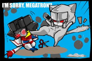 Megatron Starscream kitty by BumblebeeSam