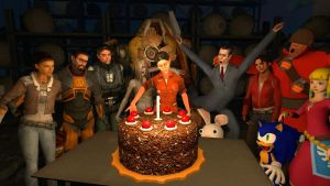 Chell's Birthday by Greenshade01