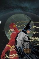 Batman and Flash Dome by TrouperDNico