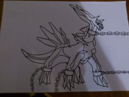 Chained Dialga(uncolored)/COLORED 2 PART by KunYKA