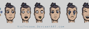 Sokka expressions by VicTycoon