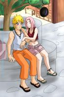 NaruSaku Lets go to My House by BotanofSpiritWorld
