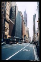 NYC street, Chrysler building. by progwrx