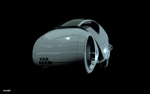 Tron Legacy Kevin Flynn Light Cycle - Vector by elclon