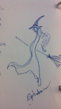 Elphaba Doodle by Aihin13