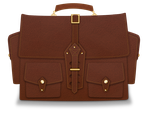 Leather Bag by Geosammy