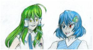 Sanae x Kogasa by Immortally--Twined