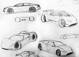 automobile rough designs by akkigreat