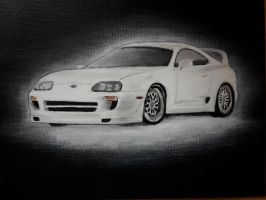Paul Walker's Toyota Supra Fast and Furious 7 by MaxBechtold