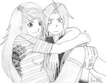 Winry and Edward by Morgster