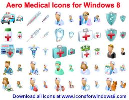 Aero Medical Icons for Win... by Ikont