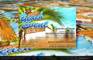Flyerdesign Berger Beach Event by razr-designs