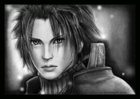 FF7: Zack Fair sketch by Takamin