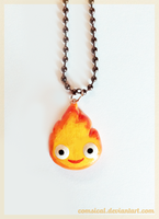 Calcifer Charm by Comsical