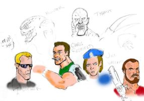 Resident Evil Sketches by Cybopath