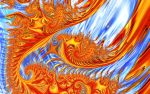 Fractal Fire and Ice by wolfepaw