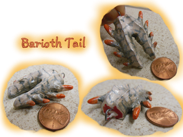 Barioth Tail Charm by CatCowProduce
