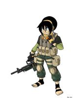 Avatar Modern Warfare: Toph by MoeAlmighty