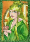 ACEO 80: Green Tea by Forunth