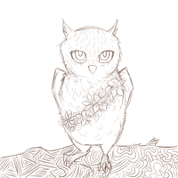 Owl sketch by Lord-of-nuts