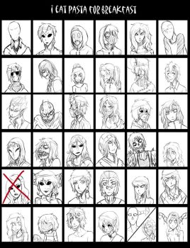 Cast Roster WIP by Chibi-Works