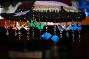 ALL the Origami Earrings by fungi-portal