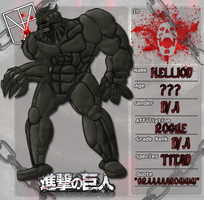 Shingeki no Kyojin OC: Hellion Titan by KnightOfTheTempest