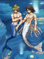Leon and Cloud in Atlantica by Cloud-x-Leon-Club